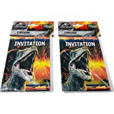 Jurassic World Fallen Kingdom Birthday Party Invitations With Envelopes 16ct