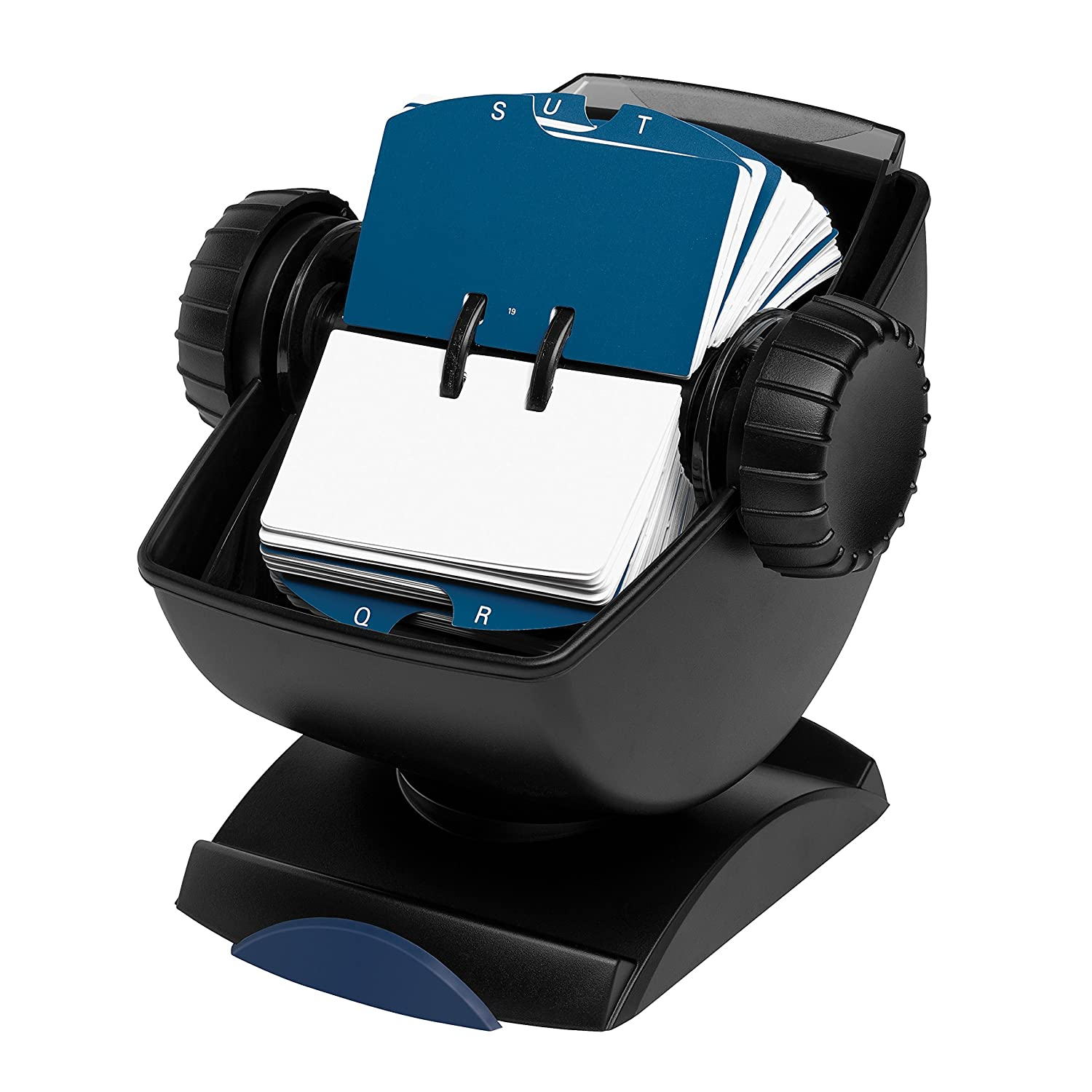 Black 500-Card 66871 Rolodex Rotary Business Card File with Swivel Base ROL66871