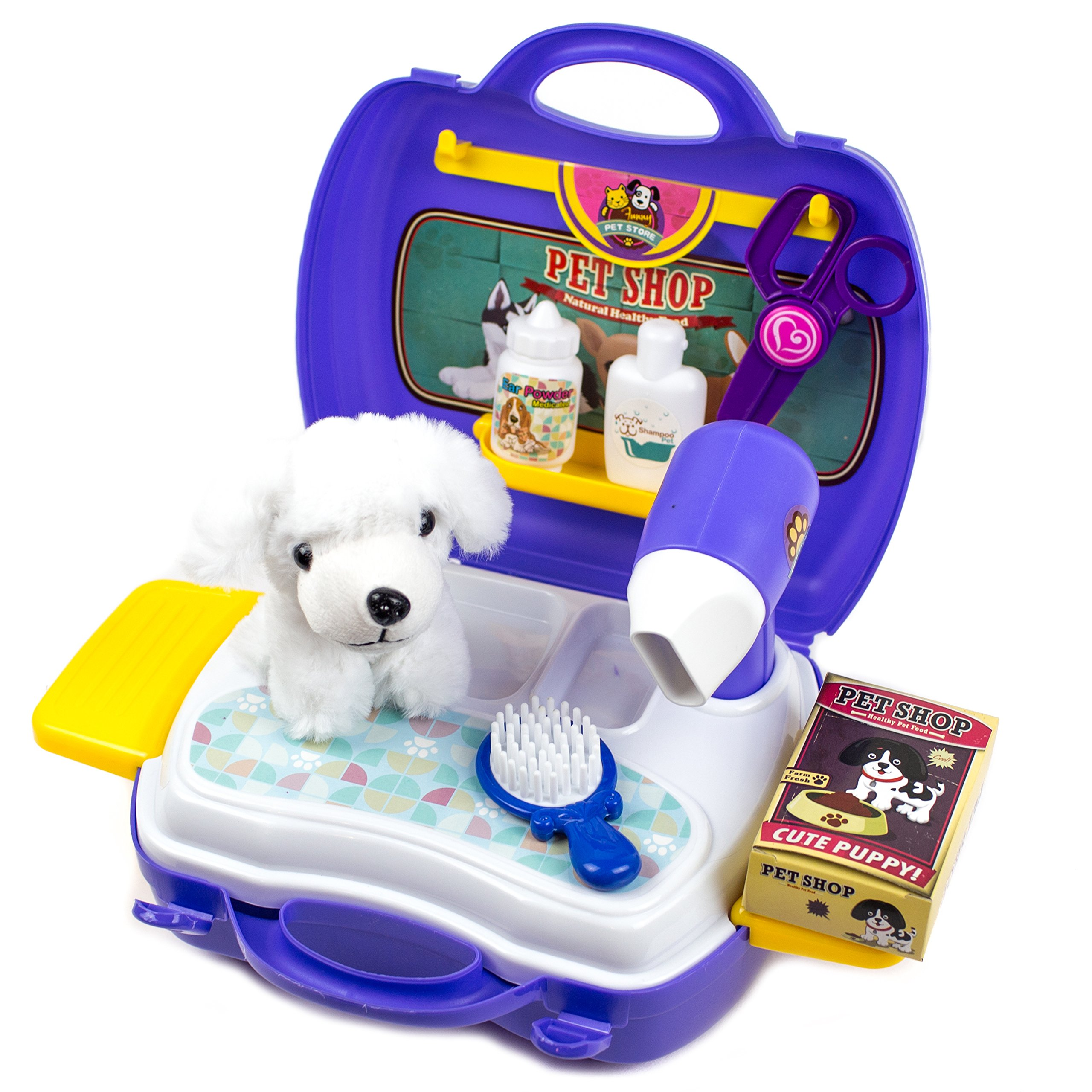 Puppy Dog Play Set - Learning Carrier Toy , 16 Pcs