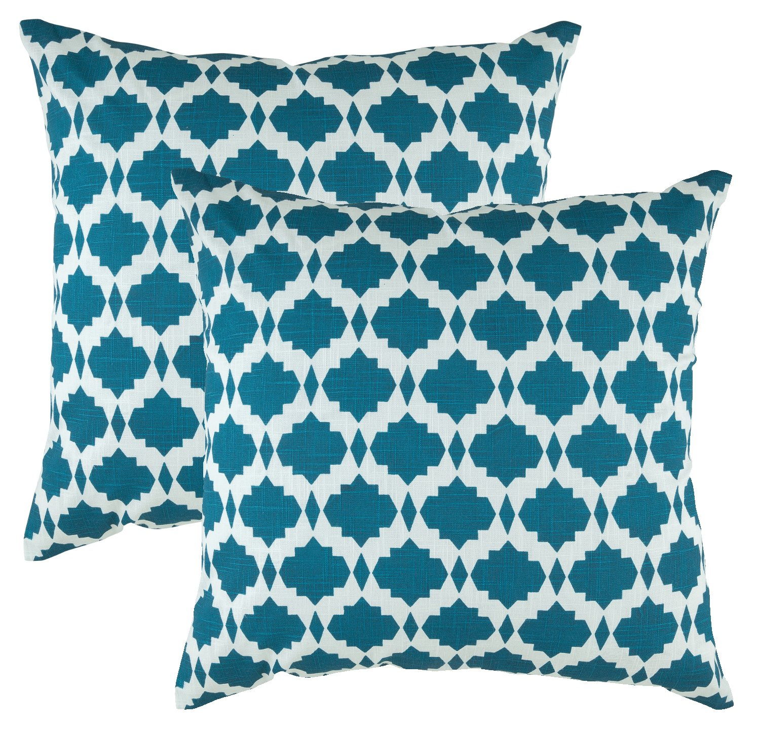 The Pillow Collection Camaxtli Ikat Black Down Filled Throw Pillow
