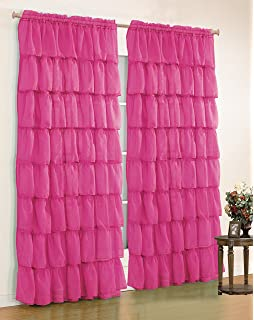 Amazon.com: Lush Decor Nerina Window Curtain, 84 by 54-Inch, Pink ...
