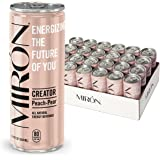 Miron Energy, Peach Pear, All Natural, Made with Caffeine from Green Coffee beans + Cane Sugar 8.4 Fl.Oz. Cans (Pack of 24)