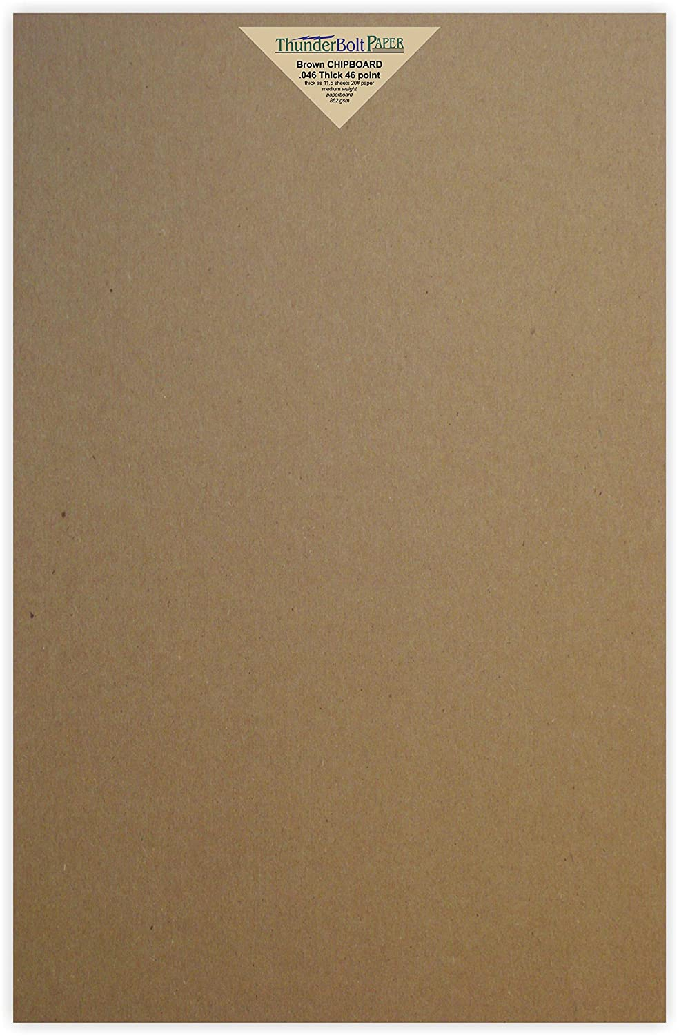 10 Sheets Chipboard 46pt (point) 12 X 18 Inches Heavy Weight Large Size .046 Caliper Thick Cardboard Craft|Packaging Brown Kraft Paper Board TBP