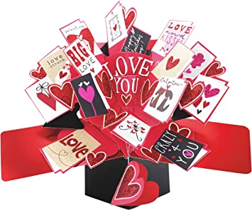 Second Nature Valentine S Day Pop Up Card With Mini Cards Amazon Co