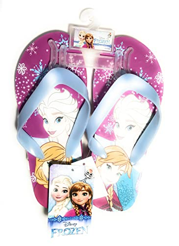 f1173d32b2eea New Disney Frozen Elsa   Anna Flip Flops Slippers (2 3