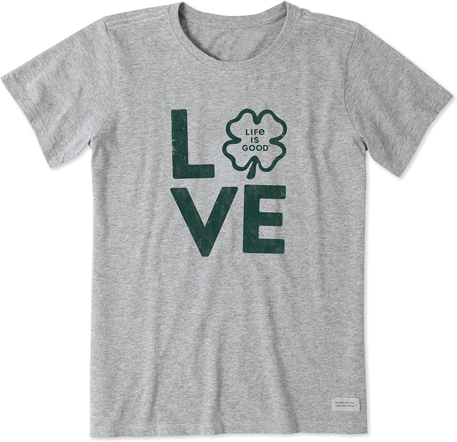Life is Good. Womens Crusher Tee: St Patricks Love, Heather Gray 91yKwlcR5SL