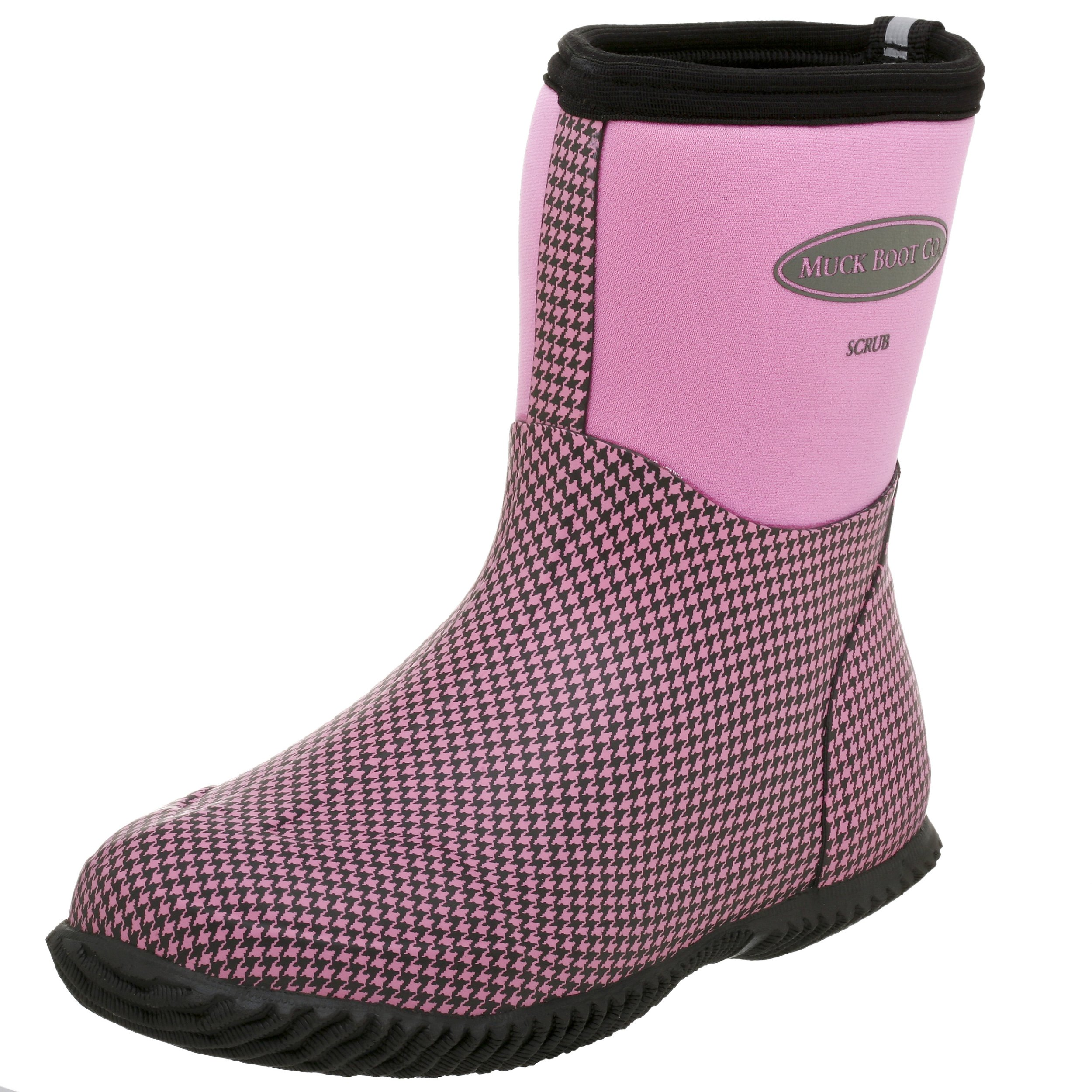 The Original MuckBoots Women's Scrub Boot,Dusty Pink Houndstooth,4 M US