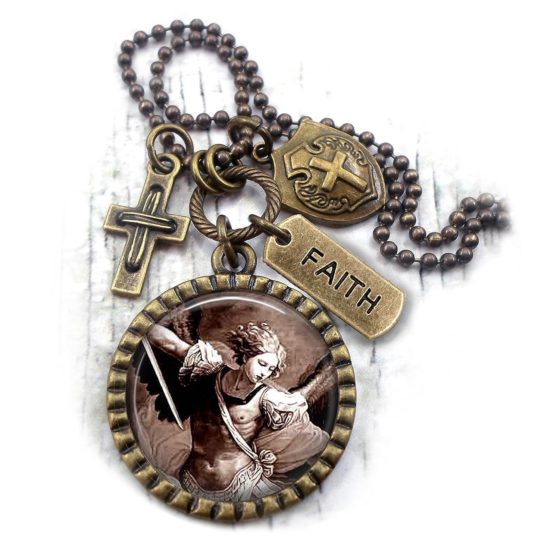 St. Michael The Archangel, Patron Saint Necklace, Confirmation Gift, Catholic Jewelry, Boys, Teens, Men, Unisex