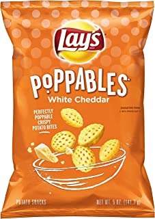 product image for Lay's Poppables Potato Snacks, White Cheddar Flavored, 5 Ounce