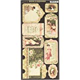 Graphic 45 4501511 Portrait of A Lady Tags & Pockets Cardstock Tags & Pockets