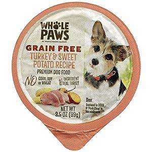 Whole Paws Grain Free Premium Dog Food, Turkey & Sweet Potato Recipe, 3.5 Oz