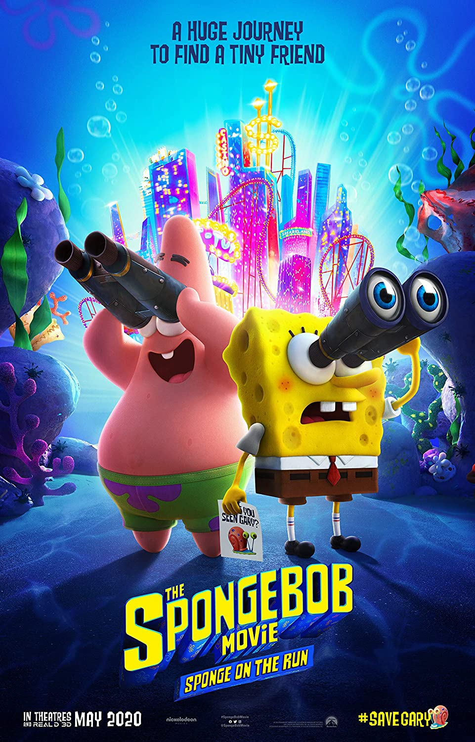 Amazon.com: Movie Poster The Spongebob Movie: Sponge On The Run (2020) Flyer 13 in x 19 in Borderless + Free 1 Tile Magnet: Posters & Prints