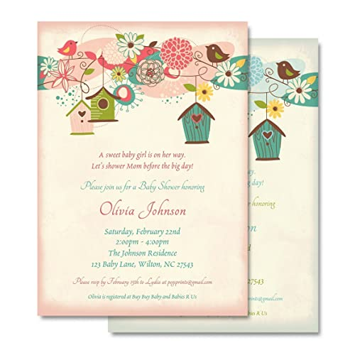 Amazon bird baby shower invitation bird baby shower invites bird baby shower invitation bird baby shower invites baby shower invitations girl baby filmwisefo Image collections