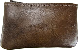 product image for North Star Men's Leather Zippered Coin Pouch Change Holder (4 X 2.5 X 0.25 Inches, Chestnut)