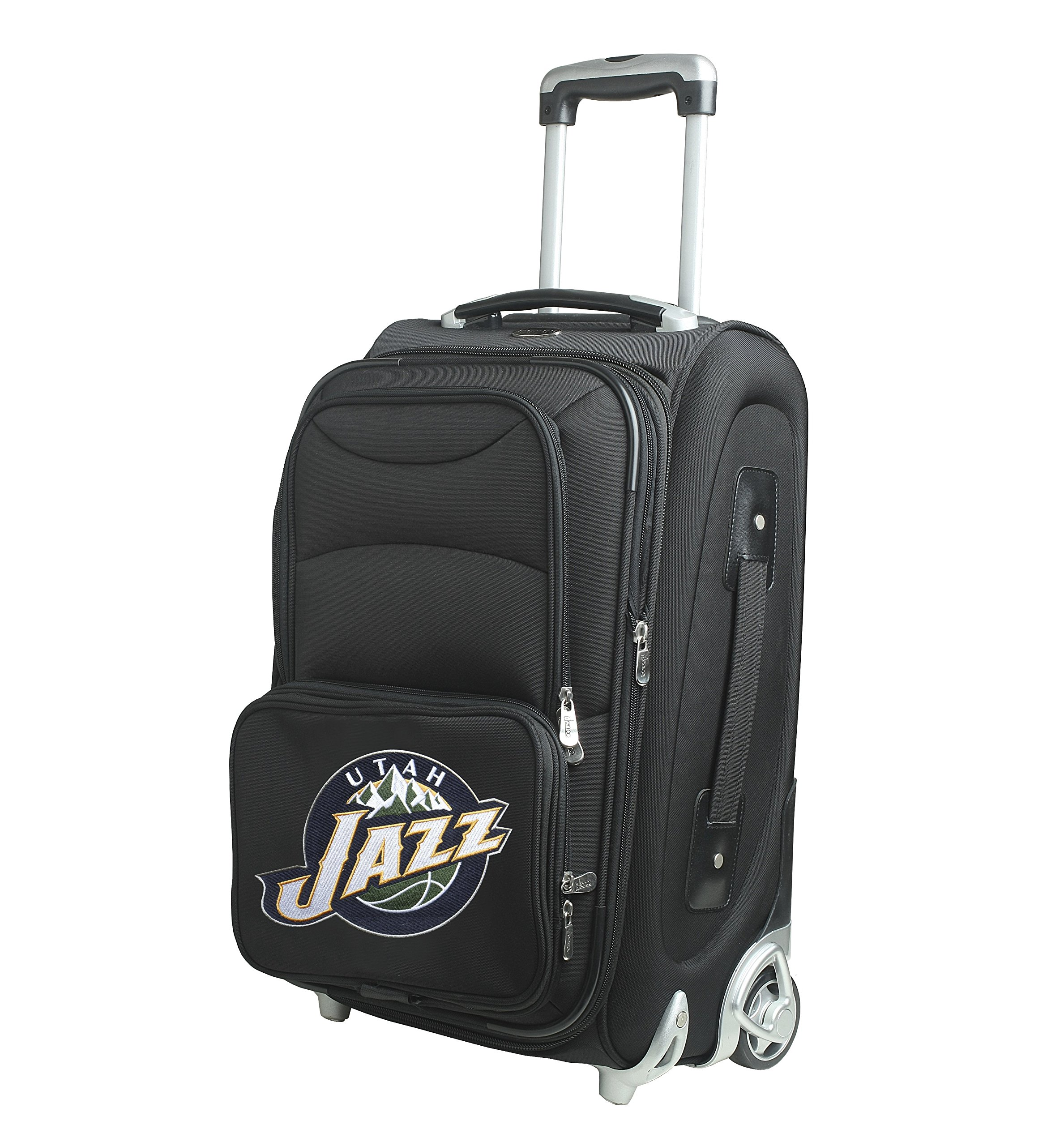 Denco NBA Utah Jazz In-Line Skate Wheel Carry-On Luggage, 21-Inch, Black