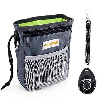 FurryFido Bolsa para recompensas de perro y dispensador de bolsas de residuos. Bolsa de entrenamiento
