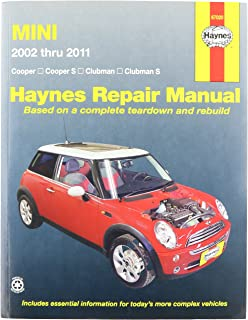 Haynes 67020 Mini Cooper, Cooper S, Clubman & Clubman S Repair Manual (2002