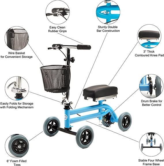 Amazon.com: Kids – Andador de rodilla Niño Rodilla Scooter ...