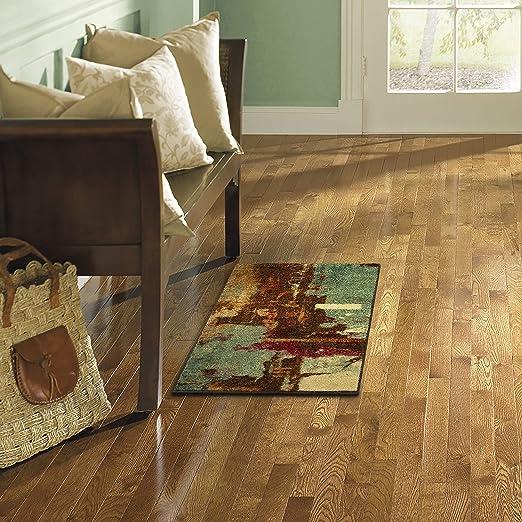 Amazon Com Mohawk Home Aqua Strata Fusion Abstract Area Rug 1 8 X2 10 Furniture Decor
