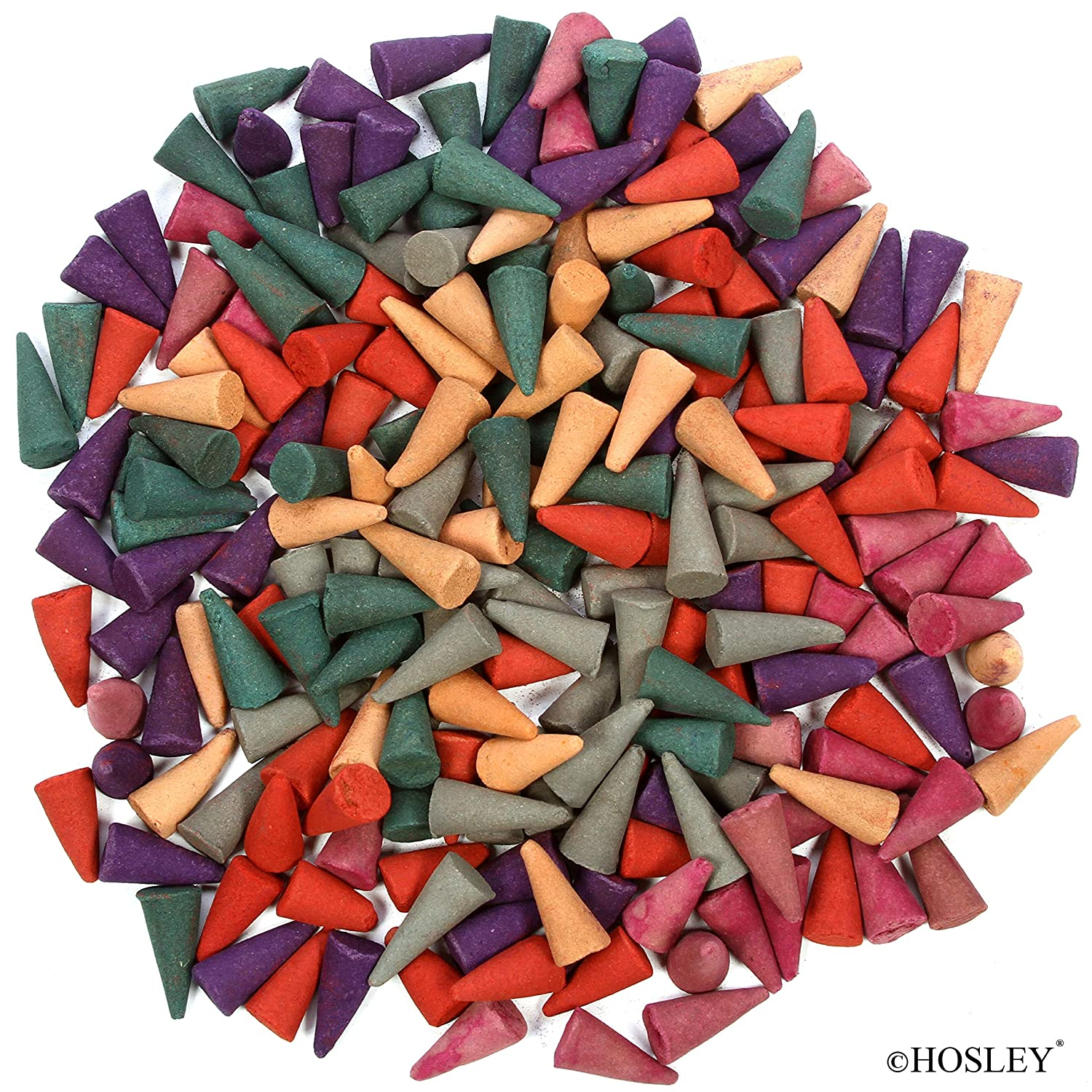 Hosley 90 Pack Assorted Incense Cones. 30 Cones of Each Like Dragons Blood Full Moon and 1 Additional Random Grab Bag Fragrance. Ideal for Spa Meditation Aromatherapy.