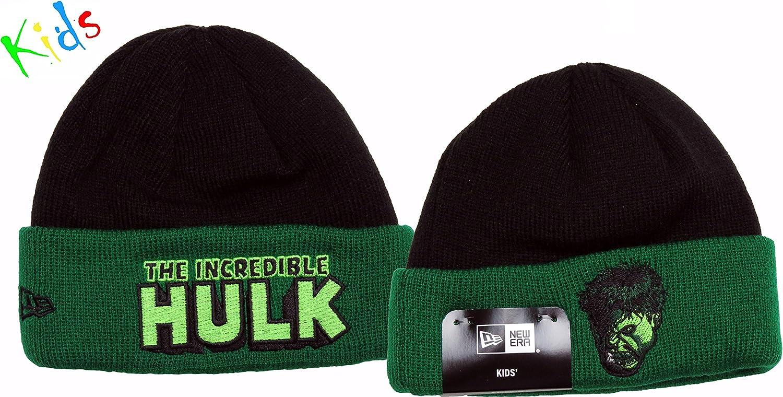 New Era The Incredible Hulk Marvel Hero Infants Cuff Knit Hat Black//Green