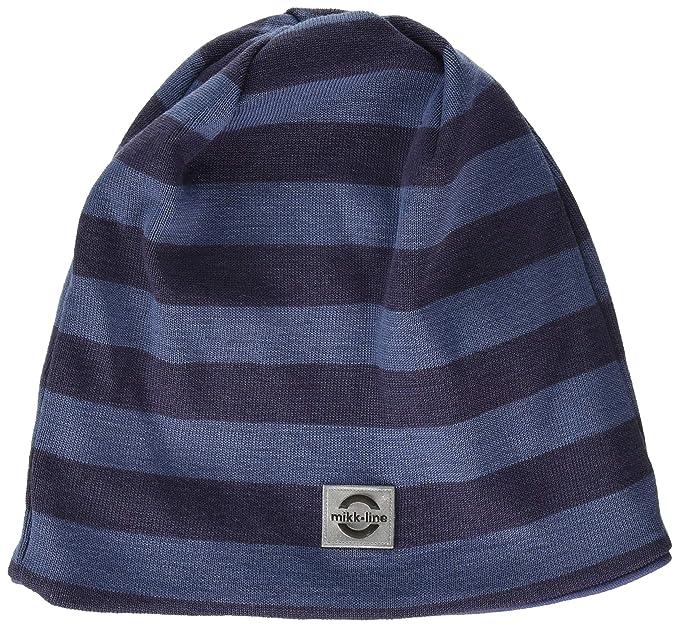 b6b068fd85aa Mikk-Line Baby Boys  Wool Mütze Gestreift Hat, Multicolour (Crown Blue 252