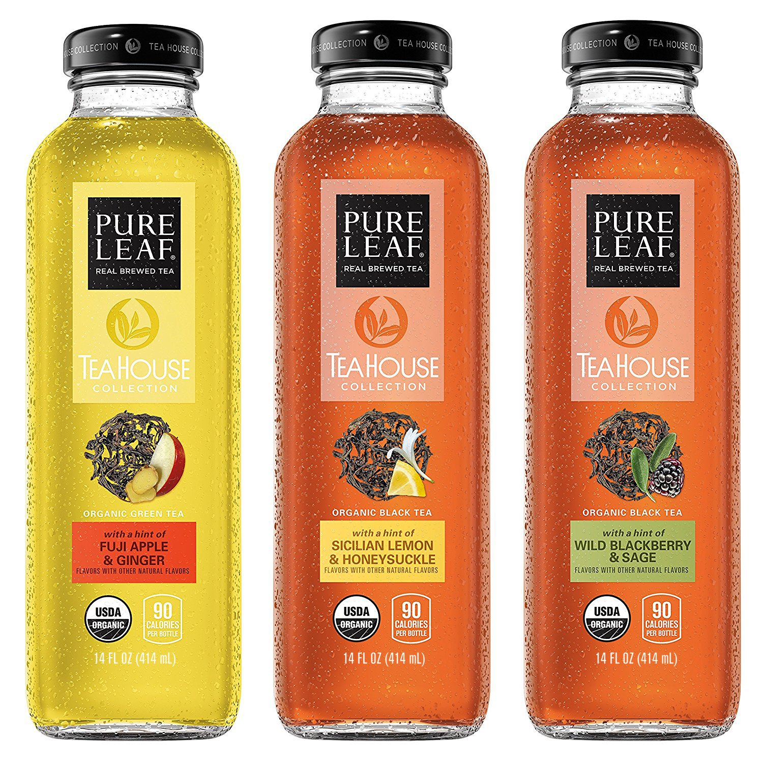 Pure Leaf Tea House Collection, Organic Iced Tea Variety Pack, 14 Ounce (pack of 8)