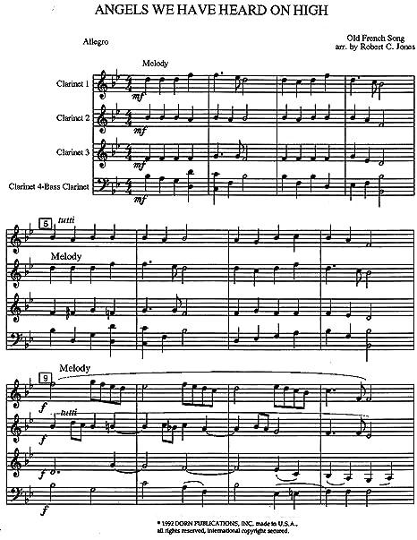 Clarinet Sheet Music Christmas.Amazon Com Christmas Folio V 3 For Clarinet Quartet