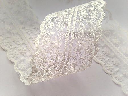 19 COLOURS lace ribbon trim craft scrapbook wedding cards scalloped edge favors
