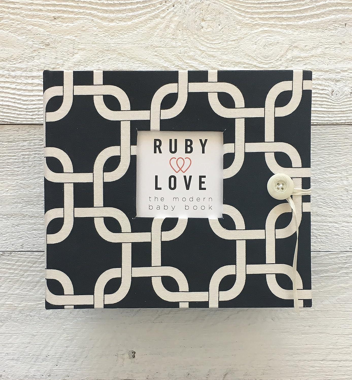 Black MOD Links Baby Memory Book - Ruby Love Baby Book by Ruby Love Baby   B01AVKW9RU