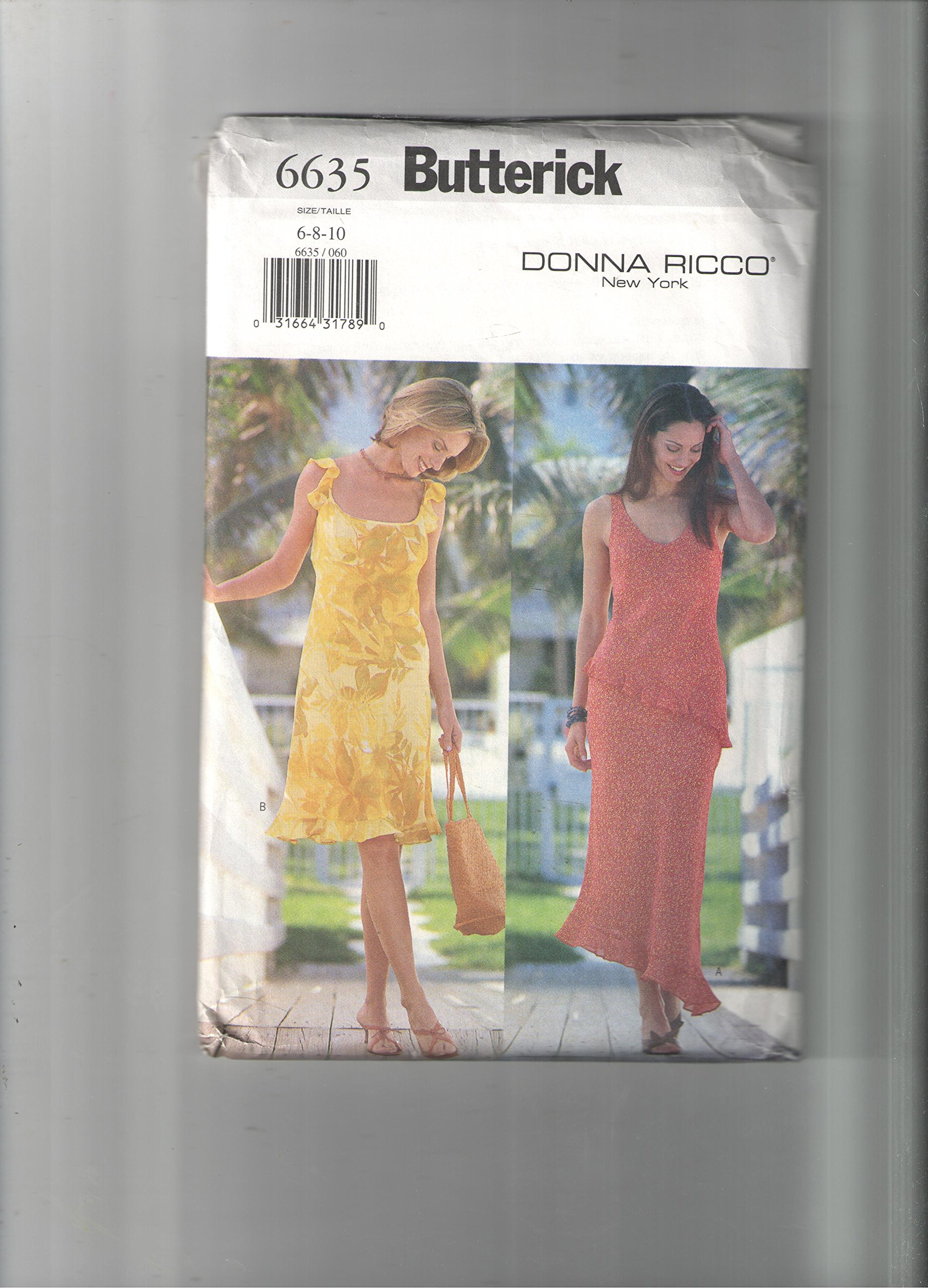 Butterick pattern 6635 *sizes 6,8,10 pdf epub