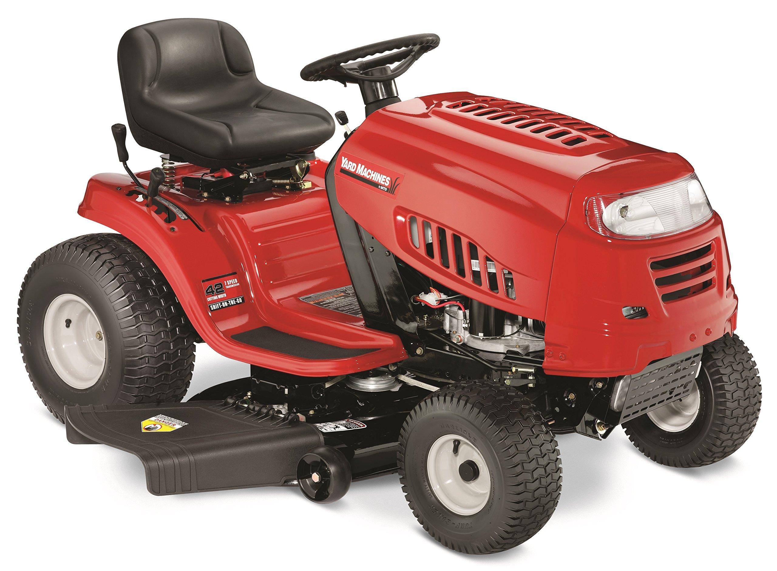 Yard Machines 420cc 42-Inch Riding Lawn Mower