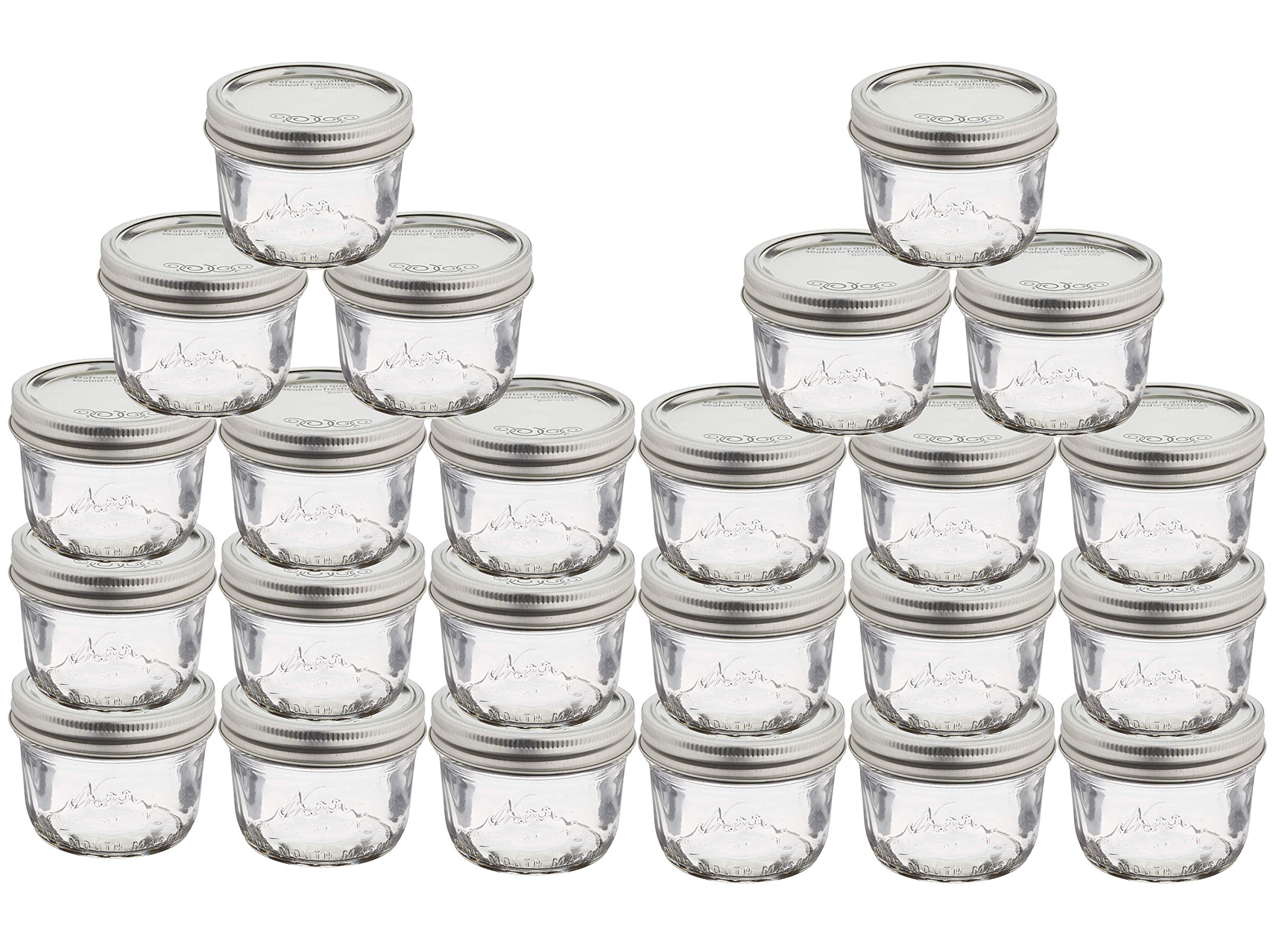 Jarden Kerr Wide Mouth Mason Canning Jars 8-Ounces with Lids and Bands (24 Jars)