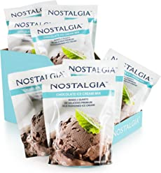Nostalgia ICM825CHOC8PK Premium Chocolate Ice Cream Mix, 8 (8-Ounce) Packs, Makes 16 Quarts Total