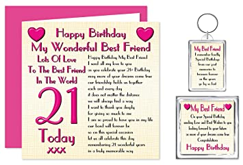 Best Friend 21st Happy Birthday Gift Set