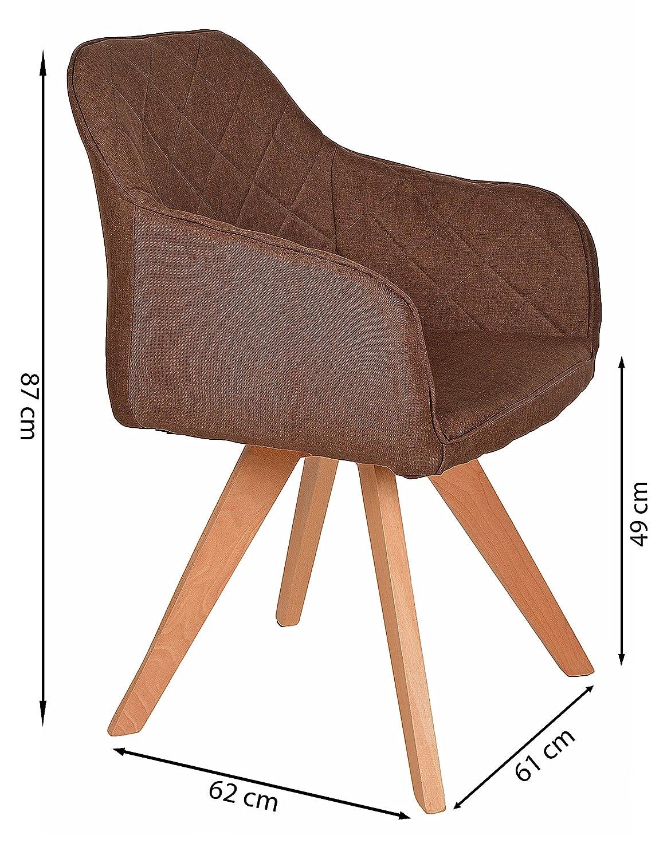 ts-ideen Lounge Design Sessel Barsessel Clubsessel Stoff in Braun ...