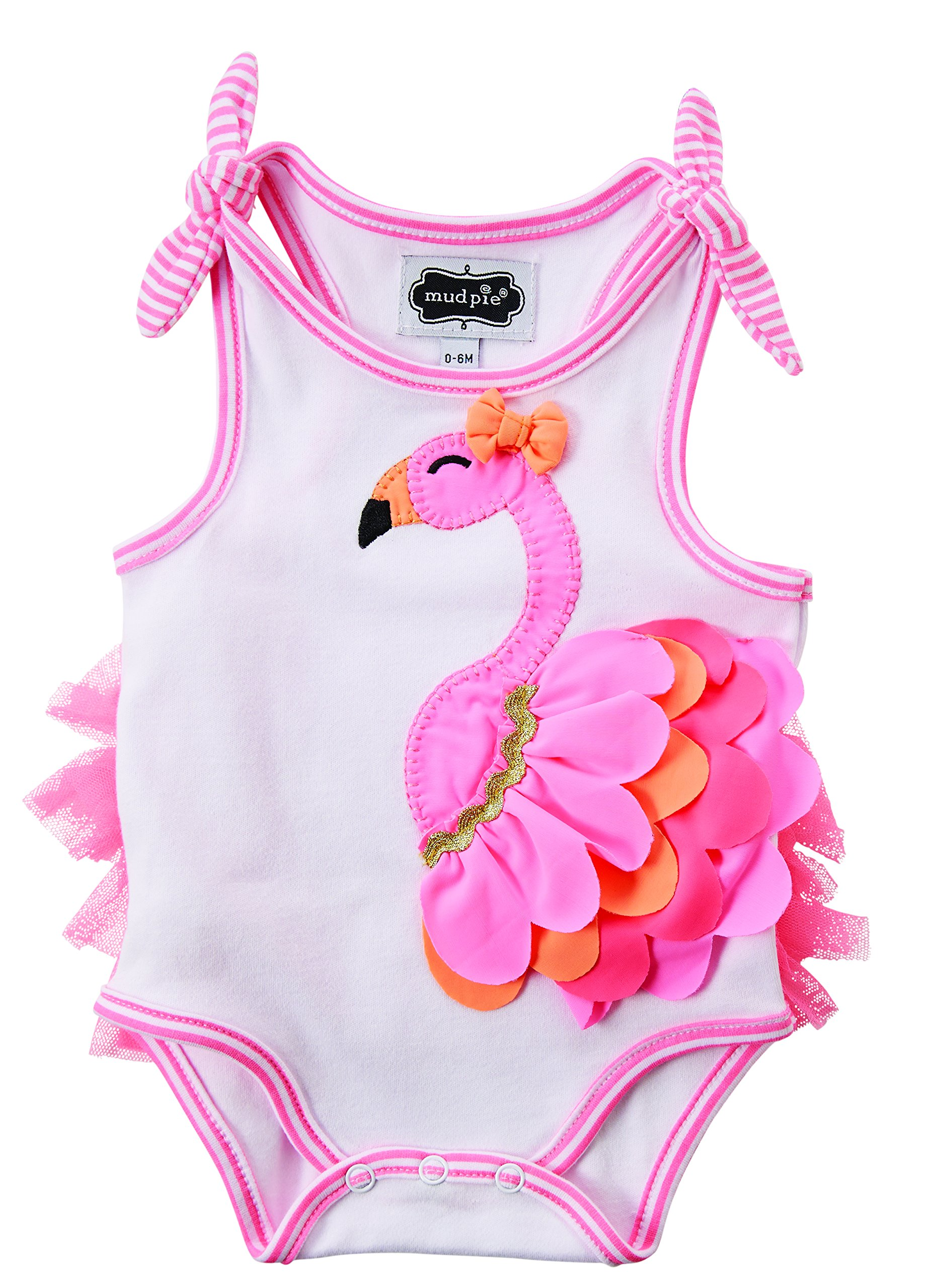 Mud Pie Baby Flamingo Crawler, White, 9-12 Months