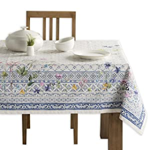 Maison d' Hermine Faïence 100% Cotton Tablecloth 60 - Inch by 108 - Inch