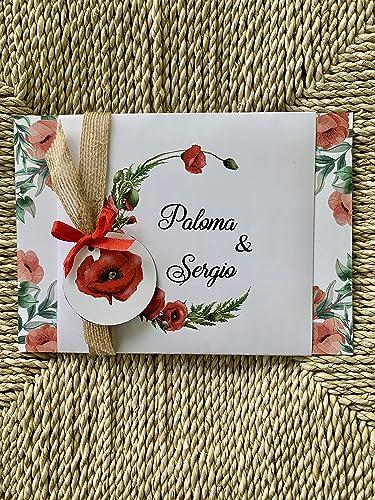 Invitación de Bodas. Floral, vintage, boda completa montada 5 Unidades: Amazon.es: Handmade