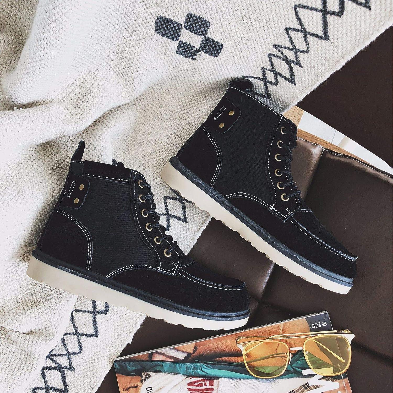 LOVDRAM Stiefel Männer Herbst Und Winter Männer Stiefel Casual Wilde Studenten Martin Stiefel Mode Hoch, Um Männer Schuhe Mode Stiefel Zu Helfen