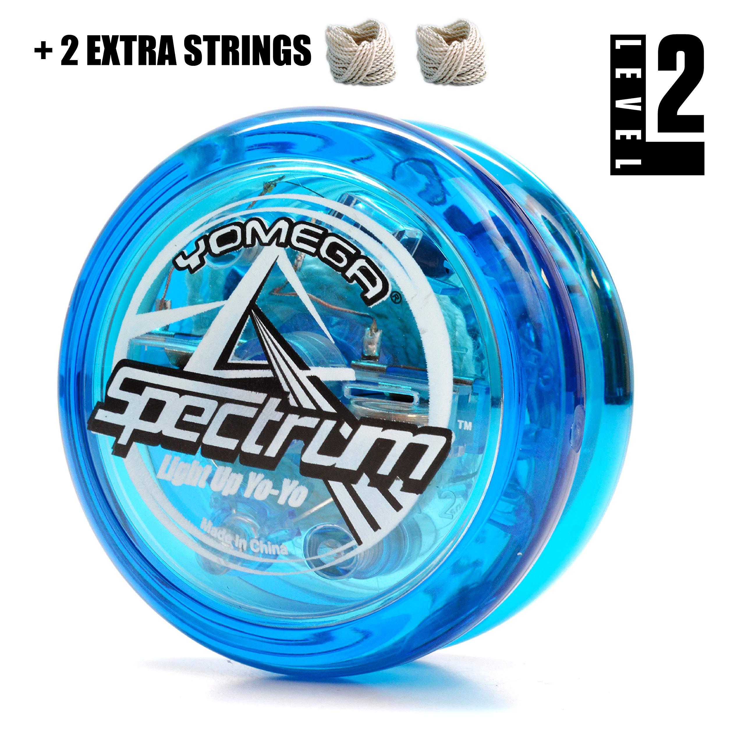 Yomega Spectrum – Light up Fireball Transaxle YoYo with LED Lights for Intermediate, Advanced and Pro Level String Trick Play + Extra 2 Strings & 3 Month Warranty (Blue) by Yomega (Image #2)