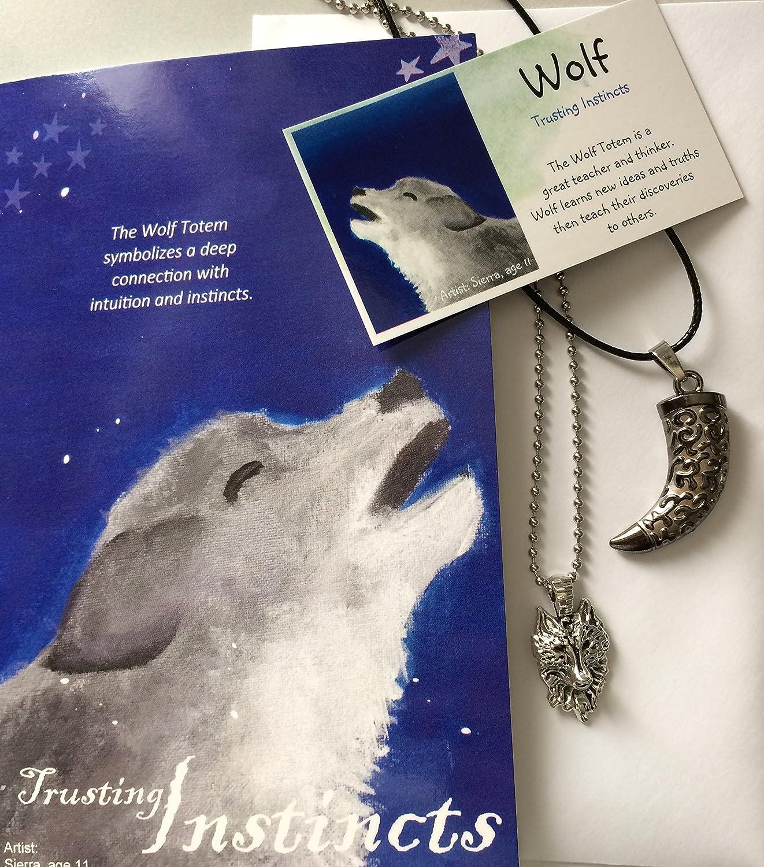 Amazon Smiling Wisdom Wolf Tooth Totem Spirit Animal Gift