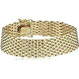 "14k Yellow Gold Italian 11 Row Panther Link Bracelet, 7"""