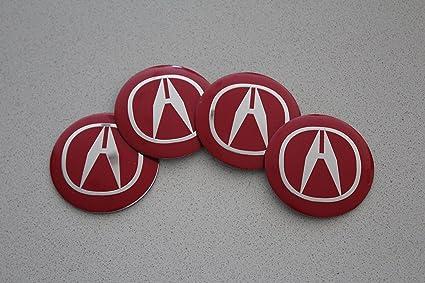 Amazoncom Autosupply X Mm Red Acura Wheel Logo Cap Badge - Red acura emblem