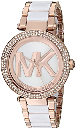 52b1cecedb08 Amazon.com  Michael Kors Women s Parker Rose Gold-Tone Watch MK6365 ...