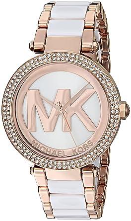 013244fa4f30 Amazon.com  Michael Kors Women s Parker Rose Gold-Tone Watch MK6365 ...