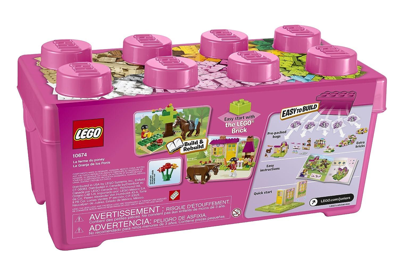 amazoncom lego juniors 10674 pony farm toys games