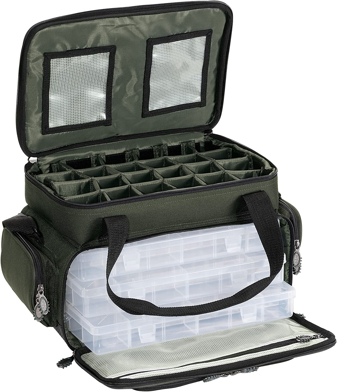 DAM PTS Kompakte Forellentasche, 45 X 30 X 25 Cm mit 3 Boxen, 8351012