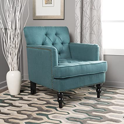 Christopher Knight Home 300065 Tufted Club, Decorative Accent Chair with  Studded Details-Dark Teal