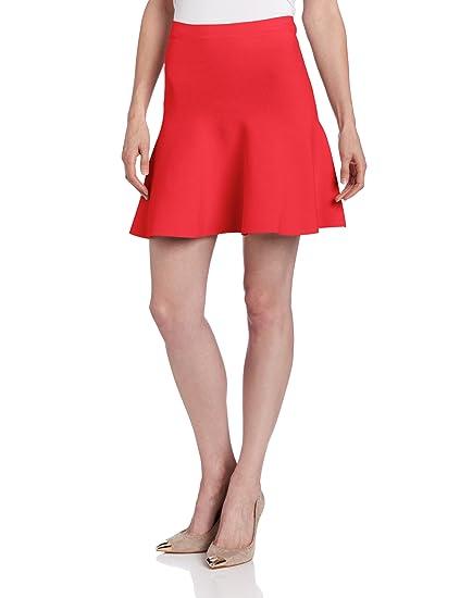 BCBGMAXAZRIA Ingrid de la Mujer Knit Fit y Flare Falda - Rojo ...